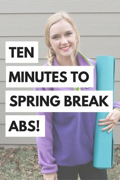 Getting in shape for spring break/summer doesn't have to be hard. Try this quick ab workout to jump start your fitness. Find it here!