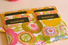 cute passport wallet pattern by one shabby chick