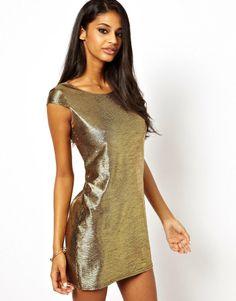 Asos Oh My Love Metallic Shift Dress #springtrends