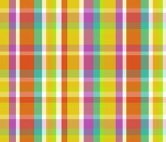 Madras Plaid Yellow fabric by littlerhodydesign on Spoonflower - custom fabric