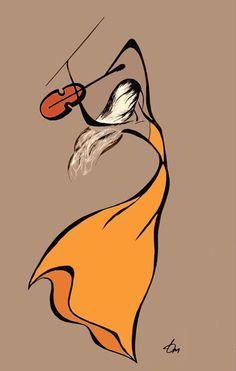 Pencil Art Drawings, Art Drawings Sketches, Drawing Faces, Diy Canvas Art, African Art, Doodle Art, Painting & Drawing, Violin Drawing, Violin Painting
