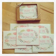 Thank your girls for taking part in your big day! Wedding Welcome Bags, Wedding Favors, Wedding Decorations, Bridal Shower Cards, Wedding Inspiration, Wedding Ideas, Addressing Envelopes, Be My Bridesmaid, Maid Of Honor