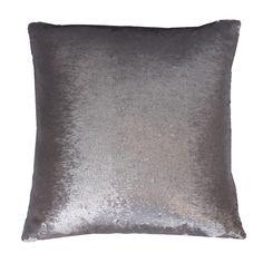 Sequin Mermaid Pillow in Silver | Dorm Room Decor | OCM.com