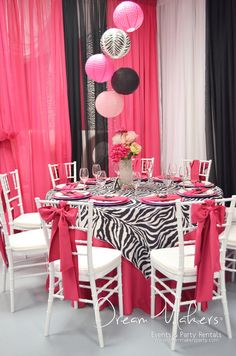 Fantastic decor at a Zebra Minnie Mouse Birthday Party!   See more party ideas at CatchMyParty.com!  #partyideas #minniemouse