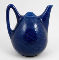 Vtg Rorstrand Swedish Blue Fire Bla ELD Teapot Tea Pot Lid Hertha Bengtsson   eBay