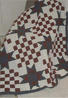 Patchy Eye Catcher Quilt Afghan Quilt-Look Favorites crochet pattern leaflet