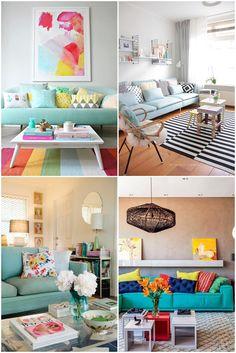 Dicas de como usar sofá colorido na sua casa, seja de um modo descontraído ou para uma decoração mais elegante.