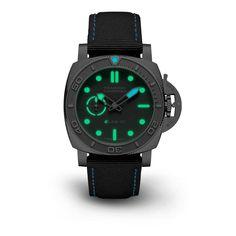 Novedades Panerai 2021 - Panerai Submersible eLab ID PAM01225 Luminiscencia Panerai Submersible, Grey Vans, Tourbillon Watch, Small Case, Recycled Materials, Luxury Watches, Luxury Branding, Smart Watch, Rolex