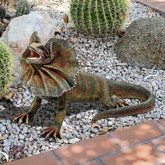 Design Toscano Frill-Necked Lizard Statue - Set of 2 - JQ94518