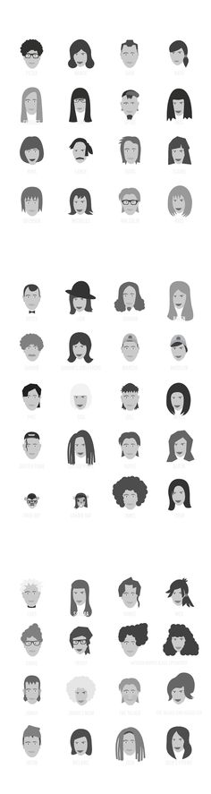 Who's who on Portlandia by Yusef Najafi, via Behance