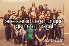 Day 12: I would want to see Starkid do a musical of The Hunger Games series...that would be totally awesome :)