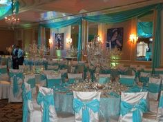 Sweet 16 Decorations | Sweet 16 decorations for a Tiffany th… | Marisol leon-smith | Flickr