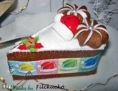 Karácsonyi játék torta szett (Filckucko) - Meska.hu