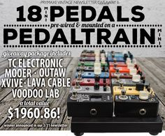 Win 18 guitar pedals worth $1,960! Expires:  March 30, 2015 Eligibility:  United States | 18+