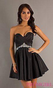 Buy Strapless Sweetheart Short Alyce Dress at PromGirl