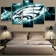 HD Print Canvas Painting Home Decorative 5 Panel Sport Modular Picture Wall Art Prints Panels Poster For Living Room : cheap canvas prints wall paintings pictures Art Painting Images, Art Paintings For Sale, Painting Art, Wall Paintings, Eagles Man Cave Ideas, Philadelphia Eagles Football, Eagles Nfl, Pittsburgh Steelers, Dallas Cowboys
