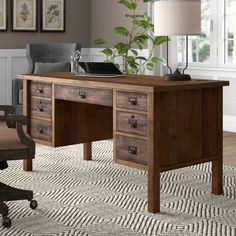 Nebel Desk – Executive Home Office Design Wood Computer Desk, Wood Writing Desk, Gaming Computer, Rustic Desk, Rustic Office Desk, Office Desks For Home, Modern Wood Desk, Office Workspace, Industrial Table