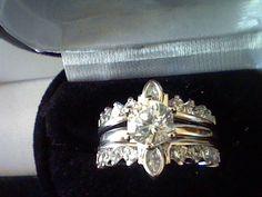 3CTW LC* DIAMOND ENGAGEMENT WEDDING ANNIVERSARY RING  SET SZ 5 + GIFT #EXCEPTIONALBUY #WithDiamonds