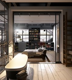 Loft Apartments Bachelor Bedroom And Glass Walls On Pinterest