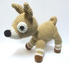 Lovely Deer 7.87' - Handmade Amigurumi crochet doll
