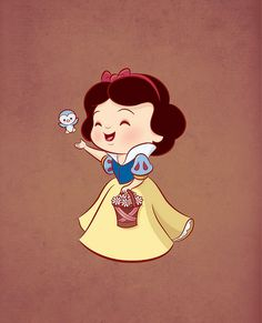 Kawaii Disney Princess - Snow White by Jerrod Maruyama Kawaii Disney, Cute Disney, Disney Girls, Disney Magic, Walt Disney, Disney Art, Disney Quiz, Chibi, Disney E Dreamworks