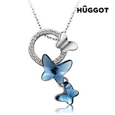 Jewelers Dream Chasers Swarovski Elements Crystal Butterfly Pendant Necklace with Platinum Plated 16 >>> Visit the image link more details. Crystal Pendant, Crystal Jewelry, Metal Jewelry, Crystal Necklace, Pendant Jewelry, Pendant Necklace, Jewelry Necklaces, Stone Necklace, Body Jewelry