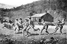 Snap the Whip 1873 Winslow Homer Wood Engraving