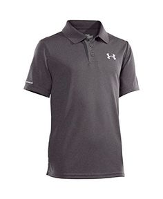 Boys' Under Armour Match Play Polo, Carbon Heather - http://our-shopping-store.com