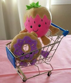 CENTERPIECE  Stuffed toys $1.50 if am not wrong (clearance after valentines day) at local Walmart  and My Life As shopping cart $12.97 Walmart online