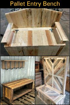 Made From Recycled Pallets, This Gives You a Storage For Clutter That Accumulates at The Front Door