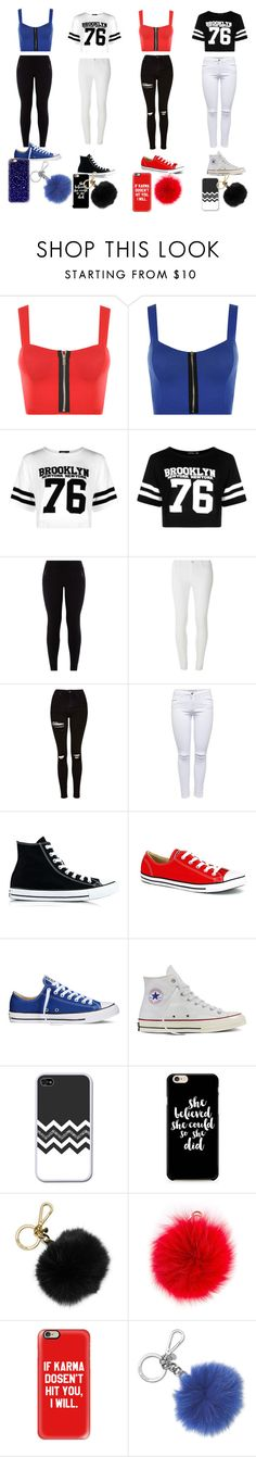 """""""i love yall"""" by kaliayh-butler on Polyvore featuring WearAll, Boohoo, New Look, Dorothy Perkins, Topshop, Converse, MICHAEL Michael Kors, Furla, Casetify and Michael Kors"""