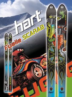 Hart ski top sheet design and ad concept.
