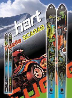 Hart ski top sheet design and ad concept.