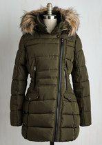 cool vegan coat with detachable faux fur trim if you are against faux fur :) #vegan #vegetarian