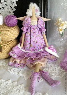 """Куклы Тильды ручной работы. Ярмарка Мастеров - ручная работа Ангел """"Нежное чувство"""". Handmade."""
