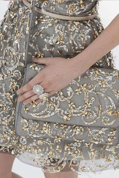 Decoration on the show Chanel Couture, Fall-Winter 2014 The most precious and barely noticeable