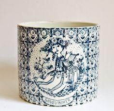 Bjorn Wiinblad, Large Jar Vase Canister, Sangviniker - Nymolle