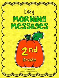 Differentiated Morning Messages - 2nd Grade level $