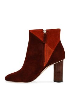 - suede upper - leather lining sole and insole - padded footbed - tonal stitching - side zipper closure - heel fits true to size take your typical size. Shoe Boots, Shoes Sandals, Fall Fashion Trends, Ulla Johnson, Shoe Sale, Shoe Collection, Heeled Mules, Booty, Leather