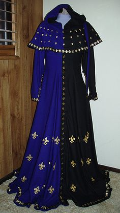 Parti color gown