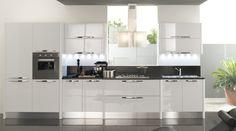 déco cuisine moderne en blanc gris