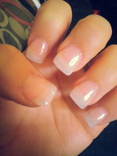 Plain and clear acrylic nails is what i want to complete my summer look:)