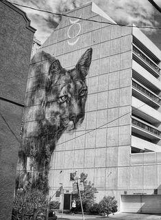 Faith 47 Urban Street Art, 3d Street Art, Street Art Graffiti, Street Artists, Urban Art, Illusion, Urbane Kunst, Farm Art, Painted Stairs