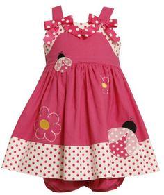 Bonnie Baby Girls Infant Ladybug Applique Sundress: Amazon.com: Clothing