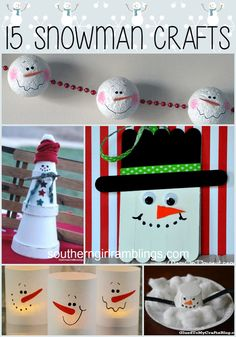 Try your hand at these 15 snowman crafts for kids to make this winter!
