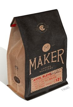 Maker by THE MADE SHOP-  I love the way this flat bottom stand up pouch was customized, very natural- go to http://www.b2bwraps.com/stand-up-pouches-13-1-1 to buy them in plain kraft #packaging