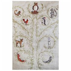 tree of life pillow detail Coral And Tusk, Tree Of Life, Embroidery, Pillows, Studio, Rugs, Sewing, Detail, Creative