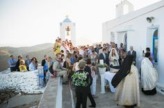 The quaint Greek island church of St. Symeon is situated on mountain and has a breathtaking  view of the endless sea.  #greekislandchurches See more http://www.love4weddings.gr/rustic-island-wedding/
