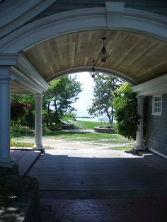 One of my favorite houses, a seaside cottage in Watch Hill, RI. Love the barrel vaulted port cochere