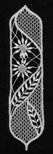 marcapaginas-záložky - heli - Picasa Web Albums - lace making Bobbin Lace Patterns, Macrame Patterns, Craft Patterns, Embroidery Patterns, Crochet Patterns, Bruges Lace, Romanian Lace, Yarn Thread, Lacemaking